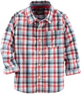 Osh Kosh Check Button Down Shirt (Toddler/Kid) - Plaid - 3T