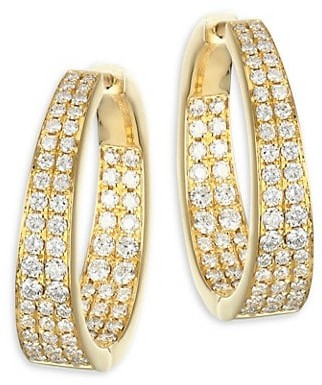 Anita Ko Meryl 18K Yellow Gold & Diamond Hoop Earrings