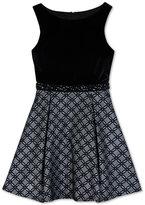 Amy Byer Velvet Jacquard Dress, Big Girls (7-16)