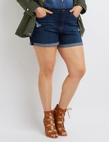 Charlotte Russe Plus Size Refuge Girlfriend Cuffed Denim Shorts