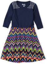 Flowers by Zoe Toddler Girls) Studded Fit & Flare Dress