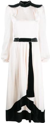 Philosophy di Lorenzo Serafini Two-Tone Long Sleeve Dress