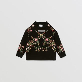 Burberry Childrens Montage Print Cotton Sweatshirt Size: 10Y