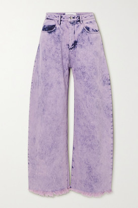 Marques Almeida Frayed Acid-wash Boyfriend Jeans - Pink