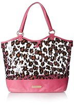 Betsey Johnson Women's Clear As Day Tote, Pink