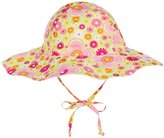 I Play Reversible Brim Sun Protection Hat (Baby/Toddler) - Yellow Fiesta Floral - 9-12 Months