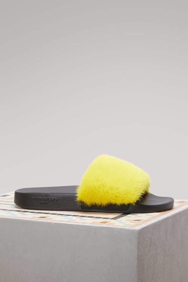 Givenchy Mink Slides