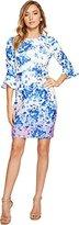 Donna Morgan Women's Pique 3/4 Bell Sleeve Sheath Dress