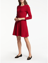 Gerry Weber Knitted Fit And Flare Dress, Red