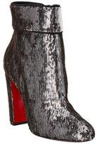 Christian Louboutin Moulamax 100 Sequin Embossed Ankle Boot.