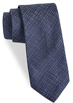 John Varvatos Filmore Textured-Plaid Classic Tie