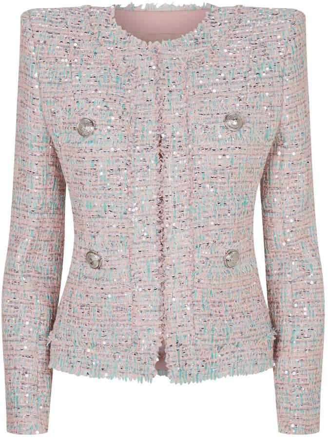 74b5cac0 Pink Sequin Jacket - ShopStyle