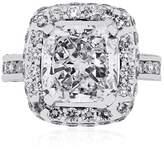 18K White Gold 3.05ct Radiant Diamond Engagement Ring Size 5