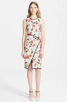 Erdem 'Josete' Piped Floral Print Dress