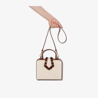 MEHRY MU neutral mini Linn leather box bag