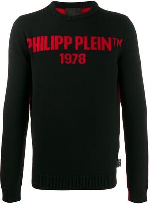 Philipp Plein colour-block relaxed-fit jumper