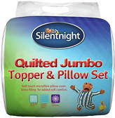Silentnight Quilted Mattress Topper and Pillow Set - Single