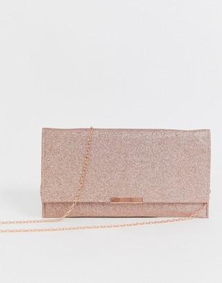 Accessorize Kelly glitter clutch-Gold