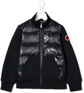 Moncler quilted contrasting panel jacket