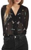 Topshop Women's Arrow Embellished Pj Shirt