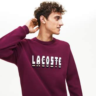 Lacoste Men's 3D-Lettering Crewneck Cotton Blend Sweater