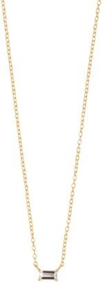 Wanderlust + Co Baguette Topaz Gold Sterling Silver Necklace