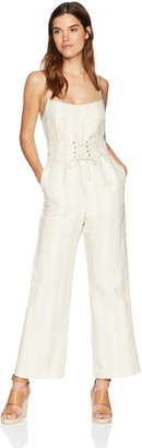 ASTR the Label Women's Juno Wide Leg Corset Cropped Casual Jumpsuit