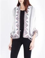 The Kooples Paisley-print silk jacket