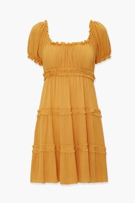 Forever 21 Tiered Ruffle-Trim Mini Dress