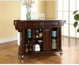 Crosley 52 in. Stainless Steel Top Kitchen Island Cart in Mahogany