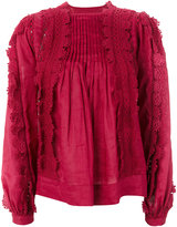 Isabel Marant lace-embellished blouse - women - Cotton/Ramie - 36