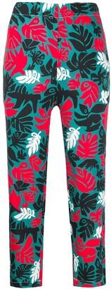 Marni Leaf Print Cropped Trousers