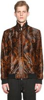 Etro Paisley Printed Ponyskin Bomber Jacket