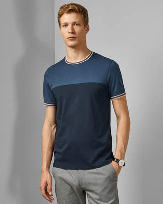 Ted Baker DATE Panelled cotton T-shirt