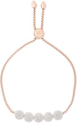Monica Vinader Fiji Button 18-karat Rose Gold Vermeil Diamond Bracelet