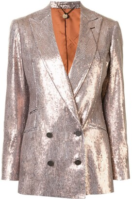 Maurizio Miri Sequinned Double-Breasted Jacket