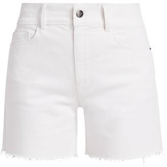 Frame Le Tour High-Rise Raw Edge Denim Shorts