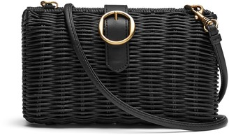 Banana Republic Wicker Minaudiere Clutch