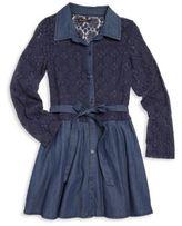 Ella Moss Girl's Lace Shirt Dress