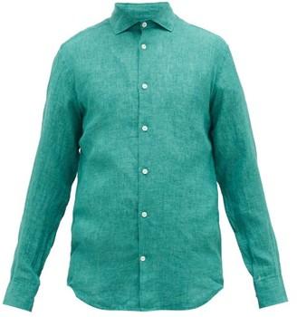 Frescobol Carioca Slubbed-linen Poplin Shirt - Green