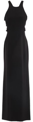 Halston Cutout Twisted Stretch-crepe Gown