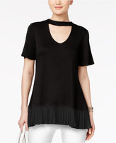 Cable & Gauge Keyhole Pleated Blouse