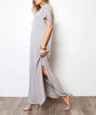 Milly Penzance Women's Casual Dresses Heather - Heather Gray Hooded Maxi Dress - Women & Plus