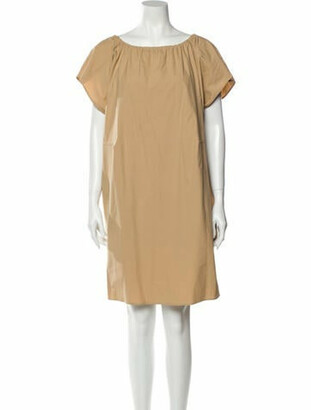 Ter Et Bantine Scoop Neck Mini Dress w/ Tags Brown