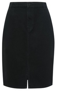 Dorothy Perkins Womens Dp Petite Black Denim Midi Skirt, Black
