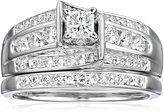 "Kobelli ""Je T'aime"" Round Diamond Wedding Ring Set, (1 cttw, H-I Color, I1-I2 Clarity), Size 6"