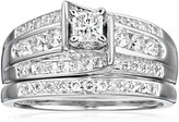 "Kobelli ""Je T'aime"" Round Diamond Wedding Ring Set, (1 cttw, H-I Color, I1-I2 Clarity), Size 7"