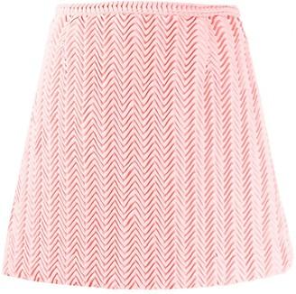 Marco De Vincenzo pleated A-line mini skirt