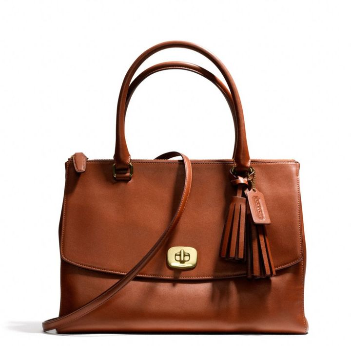 Coach Legacy Large Harper Satchel In Leather