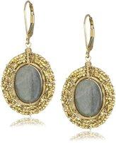 Dana Kellin Oval Labradorite Medallion Earrings